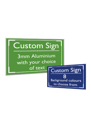 Custom Exterior Wall Mounted Notice - Multiple Options