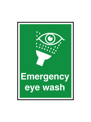Emergency Eye Wash Notice - FA026