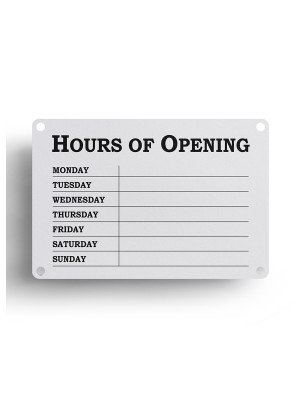 White Open & Closed Business Hours Notice - FD147