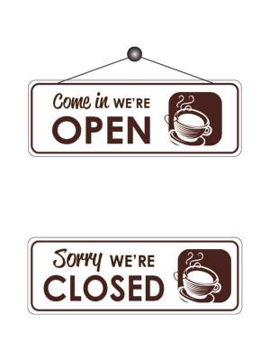 Cafe Open & Closed Notice - FD166