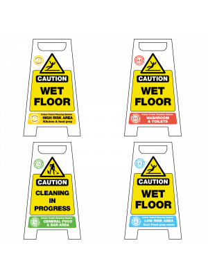 Colour Coded Cleaning Wet Floor Stands