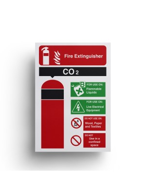 Co2 Fire Extinguisher Equipment Sign