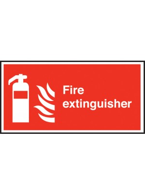 Fire Extinguisher Text & symbol Sign