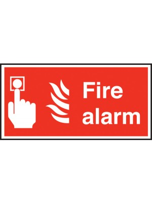 Fire Alarm Text & Symbol Sign