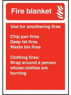 Fire Blanket Extinguisher Equipment Sign