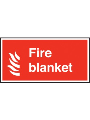 Fire Blanket Text & Symbol Sign