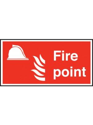 Fire Point Text & Symbol Sign