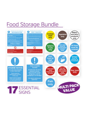 Food Storage Sign Pack - FSTPK