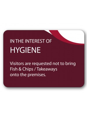 A5 In The Interests of Hygiene Guest Information Notice - GH024 - Multiple Colours