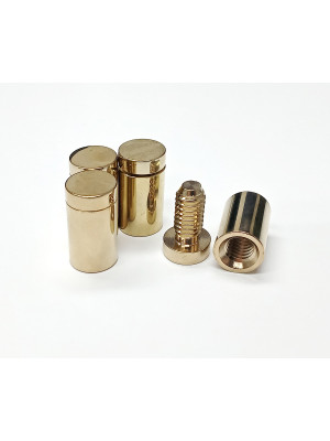 Polished Gold Stand off wall mounts (Pack of 4)