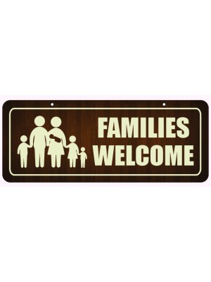 Families Welcome Window Hanging Notice - GS003