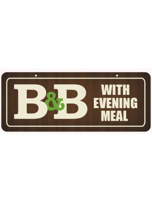 B&B with Evening Meal Window Hanging Notice - GS009