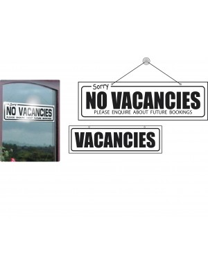 Vacancies & No Vacancies Window Hanging Notice - HR002