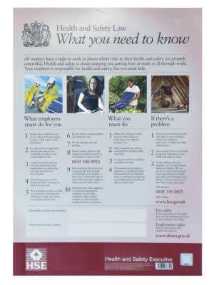 A3 Health & Safety Law Poster - Frame Options
