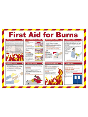 First Aid for Burns Poster - HSP05