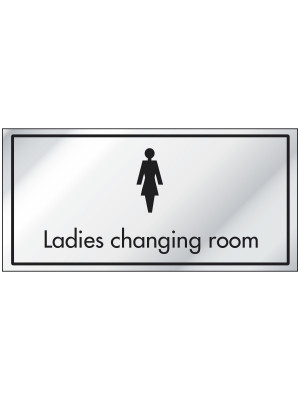 Ladies Changing Room Information Door Sign - ID001