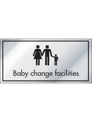Baby Change Facilities Information Door Sign - ID002