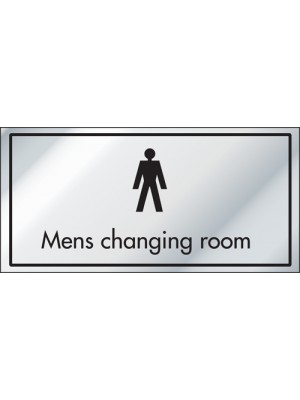 Mens Changing Room Information Door Sign - ID003