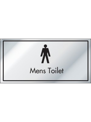 Mens Toilet Information Door Sign - ID006