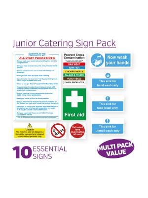 Junior Catering Sign Pack - JUNPK