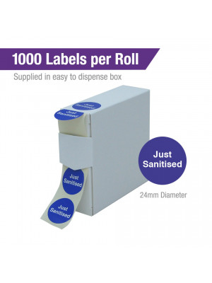 Just Sanitised Labels. 1000 per roll Boxed