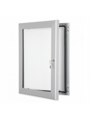 Satin Silver Key Lockable outdoor menu poster cases