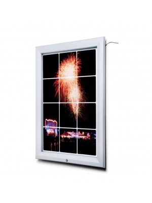 Premium Outdoor Lockable LED Poster Case - Multiple Sizes