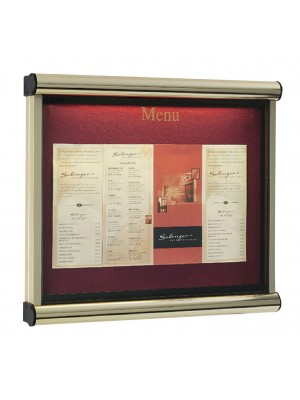 Illuminated Prestige Exterior Lockable Menu Display Cases - Multiple Sizes