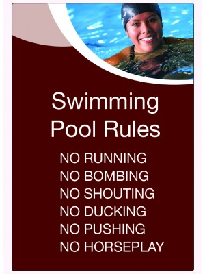 6 Swimming Pool Rules Notice - LP002