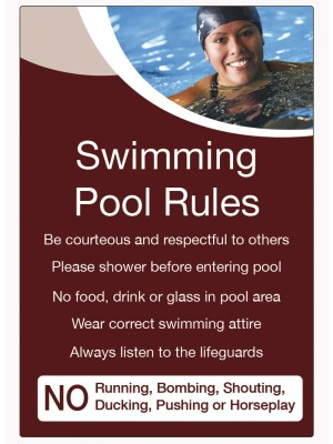 Swimming Pool Rules Notice - LP003