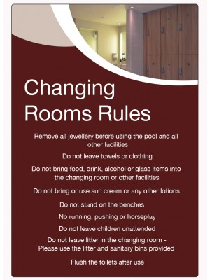 Changing Rooms Rules Guidelines Notice - LP008