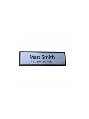 Rectangle Framed Staff Name Badge - NB002