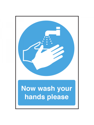 Now Wash Your Hands Please Notice