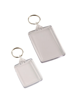 Standard Clear Acrylic Keychain - Multipack - Multiple Sizes