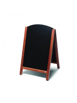 Wooden Framed Reversible HPL Chalkboards Pavement Displays - Multiple Options