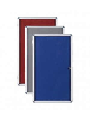 Lockable Indoor Felt Notice Boards - Multiple Options