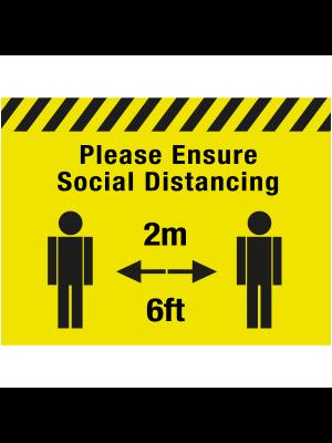 Please ensure social distancing floor graphic - SD037