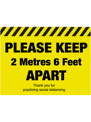 Please keep 2 metres apart social distancing floor graphic - SD036