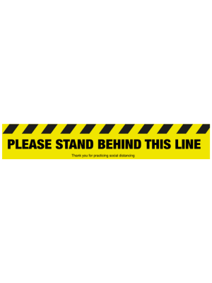 Please stand behind this line floor graphic - SD042