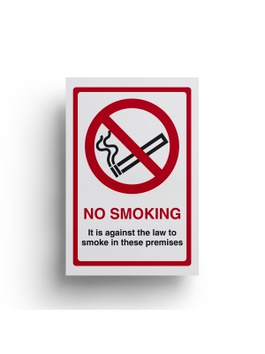 No Smoking Its Against The Law Sign