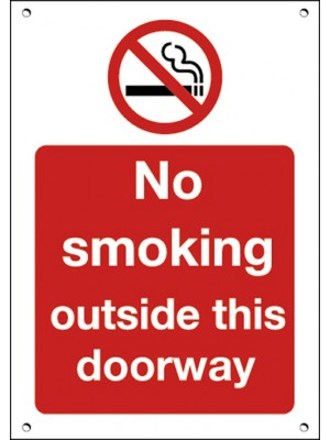 No Smoking Outside This Doorway Sign
