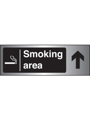 PS260 - Silver Smoking Area Arrow Up