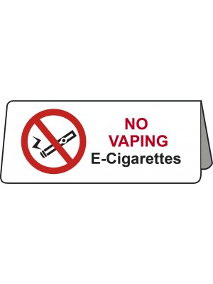 PS442 - No Vaping E-Cigarettes Tent Table Notice