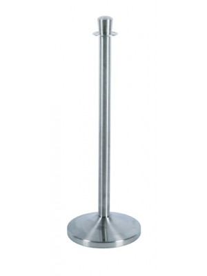 Silver Rope Barrier Pole - RBS001