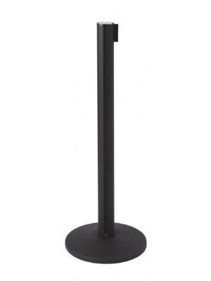Black Retractable Belt Barrier Post - RBS010 BLACK