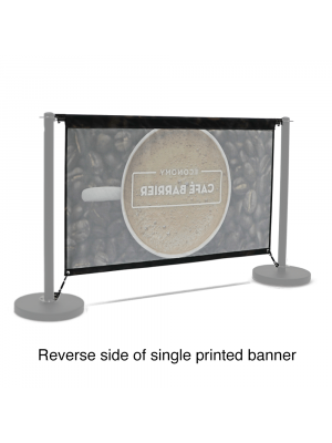 Replacement Graphic for Economy Cafe Barrier - 1500mm Single Sided Print