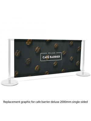 Replacement Graphic for Deluxe Cafe Barrier 2000mm Single Sided Print