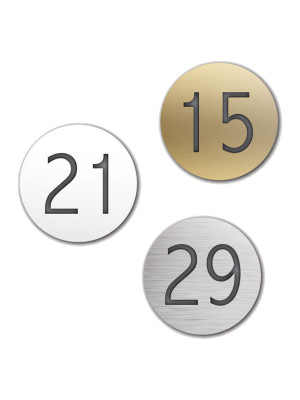 Engraved Circle Number Discs - Multiple Options