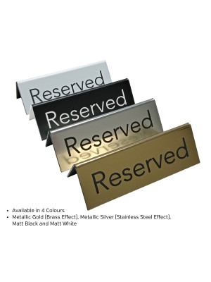 Laser Engraved Reserved Sign. Perfect for Pubs, Bars & Restaurants