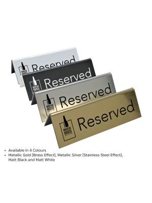 Branded Laser Engraved Reserved Sign. Perfect for Pubs, Restaurants & Bars